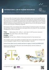 International Law of Marine Resources